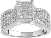 MODERN BRIDE Womens 1 CT. T.W. Princess White Diamond 10K Gold Engagement Ring
