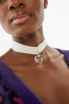 Urban Outfitters Chiffon Heart Choker Necklace