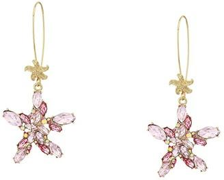 Betsey Johnson Starfish Shepherd Hook Earrings (Multi) Earring