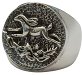 Femme Metale Jewelry Wild Hare Button Ring