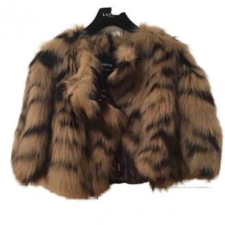 Lanvin Brown Fox Jacket for Women Vintage