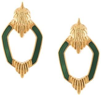Natia X Lako Bird enamel earrings