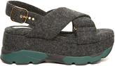 Marni Felt criss-cross flatform sandals