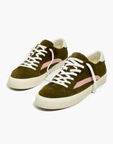 Madewell Men's Sidewalk Low-Top Sneakers in Colorblock Suede