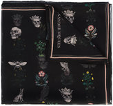 Alexander McQueen nature and skull print scarf