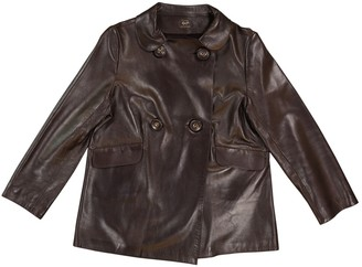 Anya Hindmarch Brown Leather Leather jackets