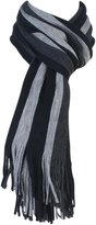 Giovanni Cassini Mens Luxury Warm Knitted Striped Winter Scarf
