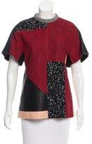 Proenza Schouler Textured Leather Top