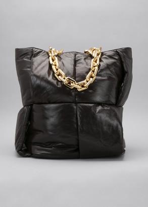 Bottega Veneta Intrecciato Puffy Chain Top Handle Tote Bag