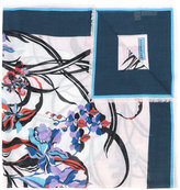Emilio Pucci floral print frayed scarf - women - Silk/Cashmere - One Size