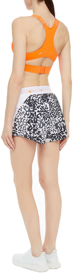 Thumbnail for your product : adidas by Stella McCartney Truepace Reflective-trimmed Logo-print Stretch Sports Bra