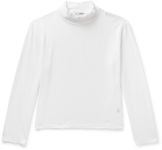 Our Legacy Artist Slim-Fit Distressed Cotton-Jersey Mock-Neck T-Shirt