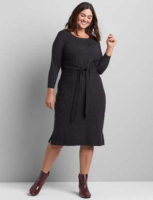 Lane Bryant Tie-Front Sweater Dress