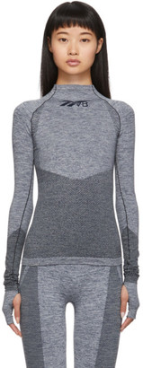 Reebok x Victoria Beckham Grey Seamless Long Sleeve T-Shirt