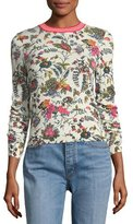 Tory Burch Noelle Floral-Printed Crewneck Sweater