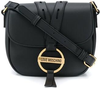 Love Moschino Round Buckle Crossbody Bag