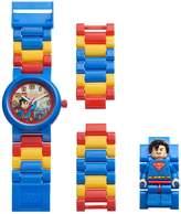 Lego Kids' DC Comics Superman Minifigure Interchangeable Watch Set