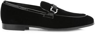 Salvatore Ferragamo Seral Formal Slip-On Velvet Loafers