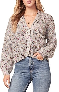 Cupcakes And Cashmere Carlisle Cropped Cardigan