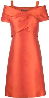 Alberta Ferretti Wrap-Style Mini Dress