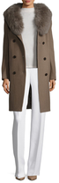 Trystan Wool Fur Trim Coat