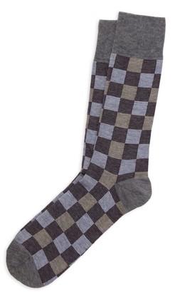 Saks Fifth Avenue COLLECTION Pop Checkerboard Crew Socks