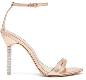 Sophia Webster Haley Crystal-embellished Leather Sandals - Womens - Rose Gold