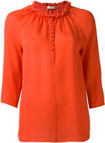 Etro ruffled neck blouse