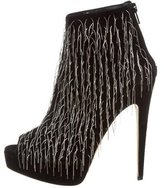 Brian Atwood Embellished Platform Booties