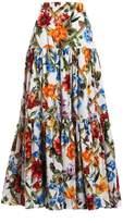 Dolce & Gabbana Long Popeline Skirt
