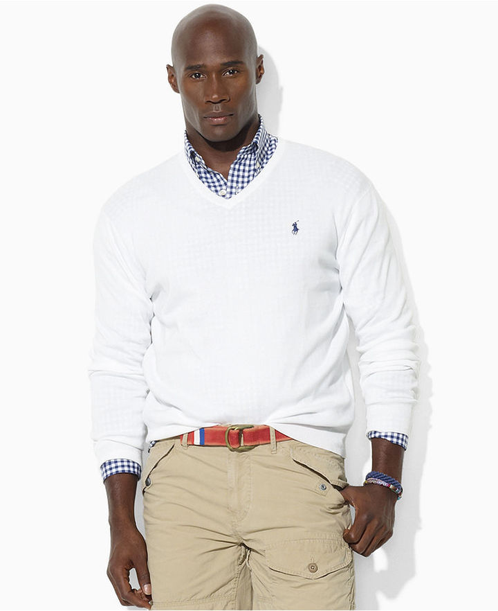 Polo Ralph Lauren Big and Tall Sweater, V-Neck Wool Sweater