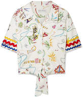 Mira Mikati Printed Cotton-blend Top - White