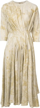 Divka Pleated Flared Dress