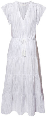 Skin and Threads Linen Tiered Maxi Dress