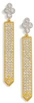 Freida Rothman Women's Visionary Fusion Sword Drop Earrings