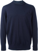 Sacai shirt insert sweater - men - Cotton/Cupro - 0