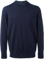 Sacai shirt insert sweater - men - Cotton/Cupro - 1