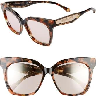 Roberto Cavalli 57mm Cat Eye Sunglasses