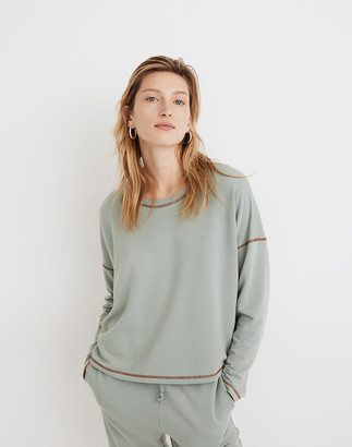 Madewell MWL Superbrushed Contrast-Stitched Easygoing Sweatshirt