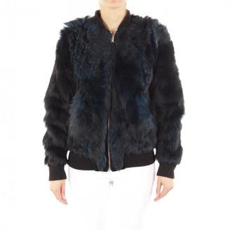 BLK DNM Grey Fur Jacket for Women