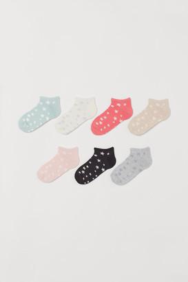 H&M 7-pack Ankle Socks - Orange