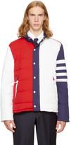 Thom Browne Tricolor Down Funnel Collar Four Bar Ski Jacket