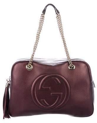 56a25d12960fb5 Gucci Shoulder Bag With Chain Strap - ShopStyle