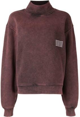 Alexander Wang Boxy Bleach-Wash Sweatshirt