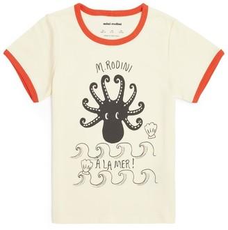 Mini Rodini Octopus Print T-Shirt (1.5-11 Years)