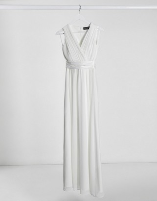 Little Mistress bridal maxi gown in off