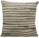 Mina Victory Leather Hide Thin Stripes 20-Inch Square Throw Pillow
