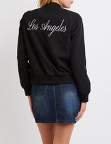 "Charlotte Russe """"Los Angeles"""" Zip-Up Bomber Jacket"