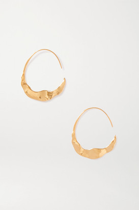 Chan Luu Crescent Gold-plated Hoop Earrings - one size
