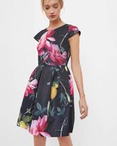 Ted Baker Citrus Bloom pleated dress